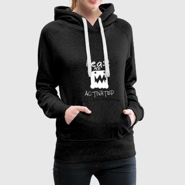 Monster mode activated - beast mode activated - Women's Premium Hoodie