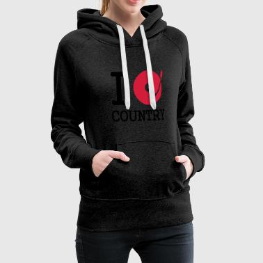 i dj / play / listen to country - Sweat-shirt à capuche Premium pour femmes