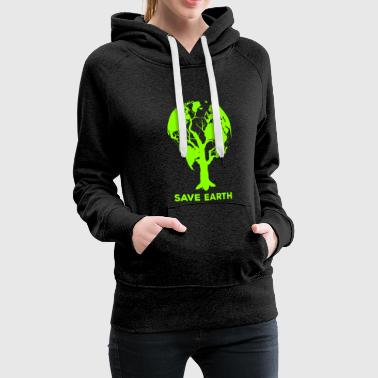 Environmental Protection Conservation Earth Day Earth Planet - Women's Premium Hoodie