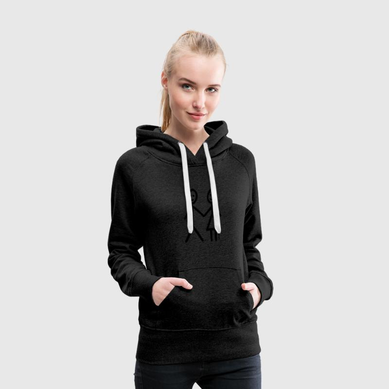 Boy and Girl - Sweat-shirt à capuche Premium pour femmes
