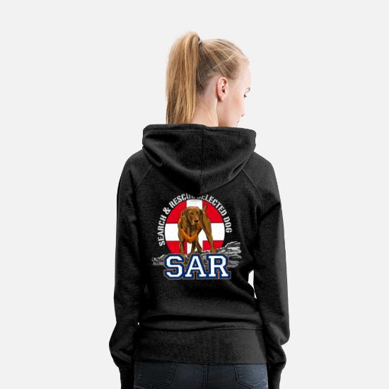 Rescue Hoodies & Sweatshirts - search and rescue dog 1 - Women's Premium Hoodie charcoal grey