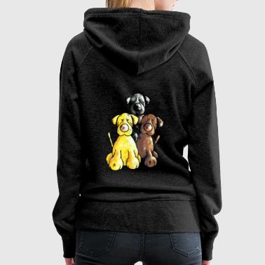 Labrador Retriever - Dog - Cartoon - Women's Premium Hoodie