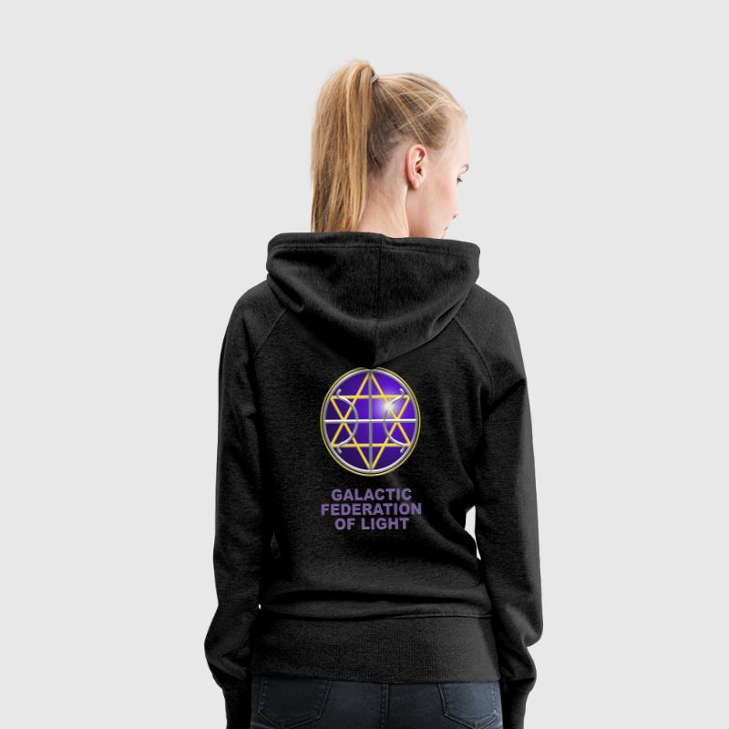 Ummac Dan - Galactic Federation Symbol For The Sirian Star System, digital - Women's Premium Hoodie