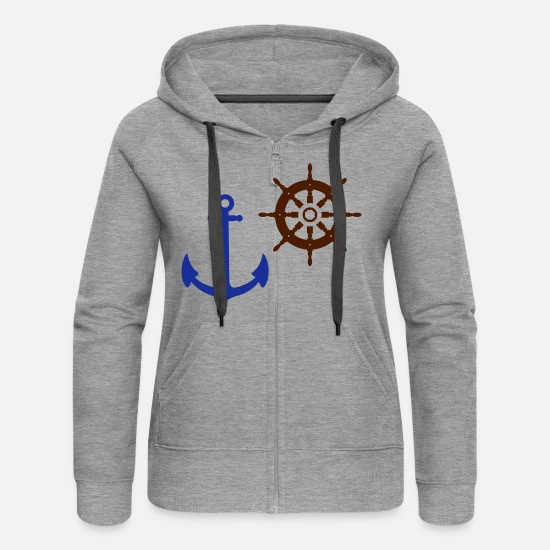 Wheel Hoodies & Sweatshirts - wheel - Women's Premium Zip Hoodie heather grey