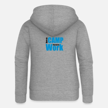To Camp camping - Women's Premium Zip Hoodie