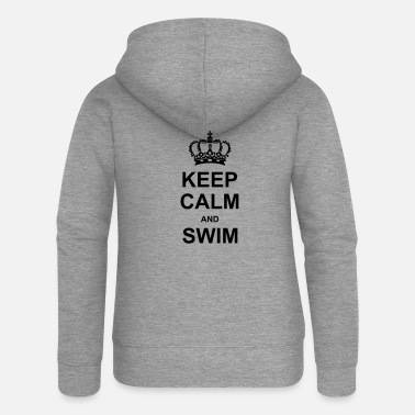 Keep Calm Keep Calm and Swim - Frauen Premium Kapuzenjacke