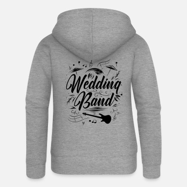 Black Band wedding - Women's Premium Zip Hoodie