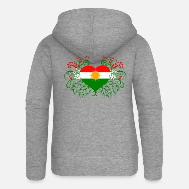 Kurdistan Kurdish flag Kurds - Women's Premium Zip Hoodie