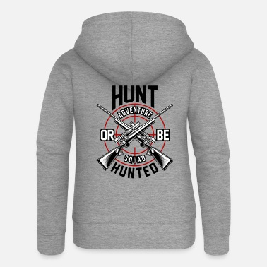 Dad Guns Hunting Hunter Deer Stag Hunt Hunter Wild Gift - Women's Premium Zip Hoodie