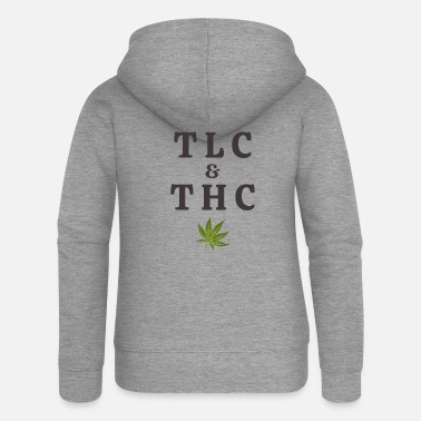 Tlc 420 Potbladblad / Marihuana Plant Saying / - Premium hettejakke for kvinner