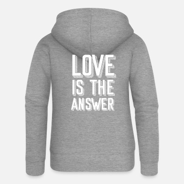 Love COMIC STYLE LOVE IS THE ANSWER LOVIN TRUE COUPLE - Frauen Premium Kapuzenjacke
