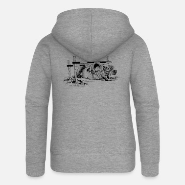 PonyFall Thelwell Cartoon - Women's Premium Zip Hoodie