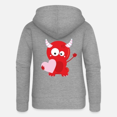 Romantic Monster Romantic - Women's Premium Zip Hoodie
