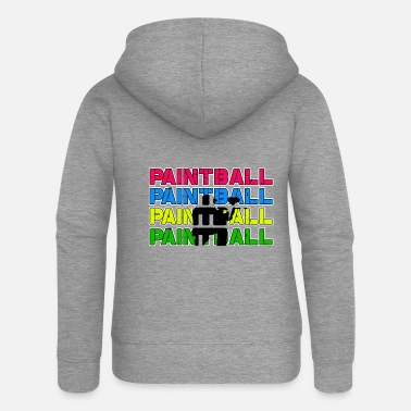 Paintball Paintball Paintball Paintball Paintball - Women's Premium Zip Hoodie