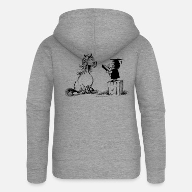 Thelwell - Pony in school - Women's Premium Zip Hoodie
