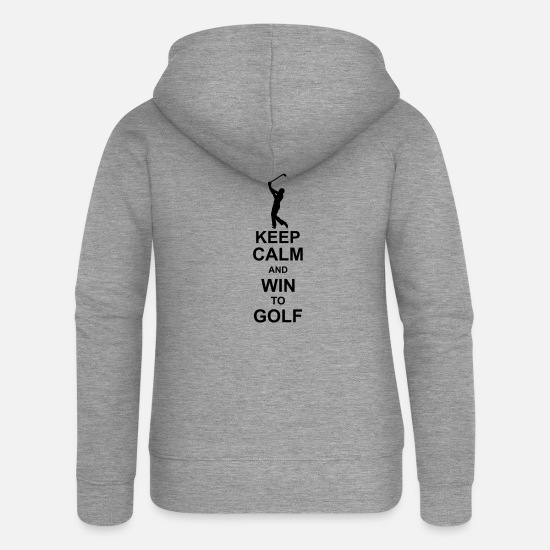 Hierba Sudaderas - keep calm and win to golf kg10 - Chaqueta con capucha premium mujer gris jaspeado