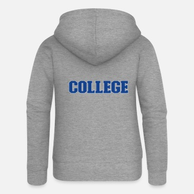 College College text in blue college font - Women's Premium Zip Hoodie
