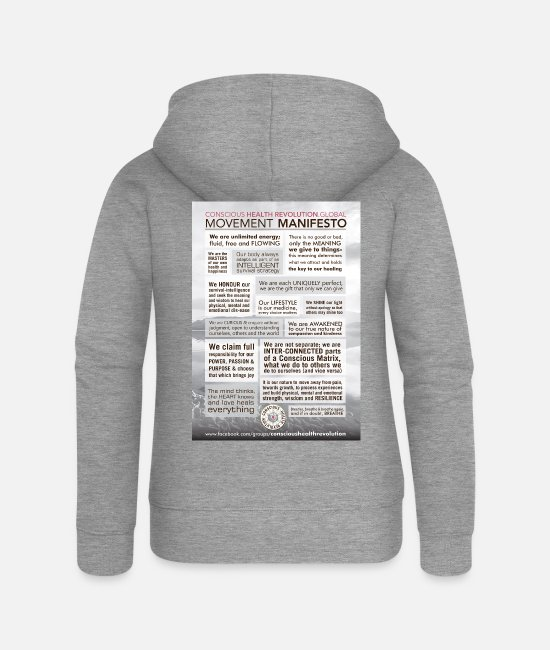 Healthy Hoodies & Sweatshirts - Movement Manifesto - Women's Premium Zip Hoodie heather grey