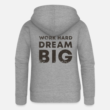 Big Apple work hard dream big quote motivational square - Women's Premium Zip Hoodie