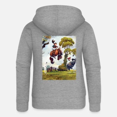 PonyRodeo Thelwell Cartoon - Women's Premium Zip Hoodie