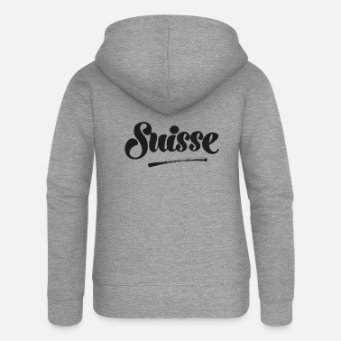 Swiss German Grüezi Switzerland Swiss Swiss German Switzerland - Women's Premium Zip Hoodie
