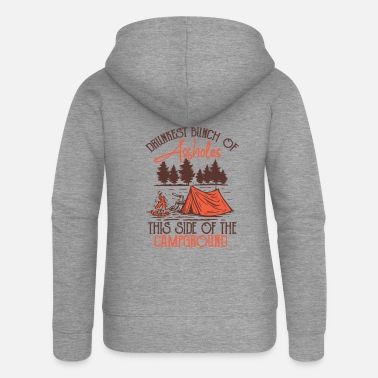 Bicycle Drunkest Bunch Of Assholes This Side Of Campground - Women's Premium Zip Hoodie