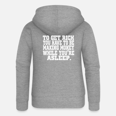 Moneygrubbing money - Women's Premium Zip Hoodie