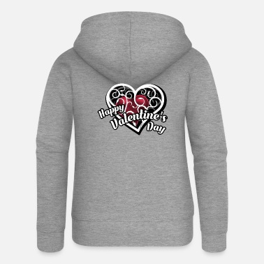 Happy Happy Valentines Day - Women's Premium Zip Hoodie