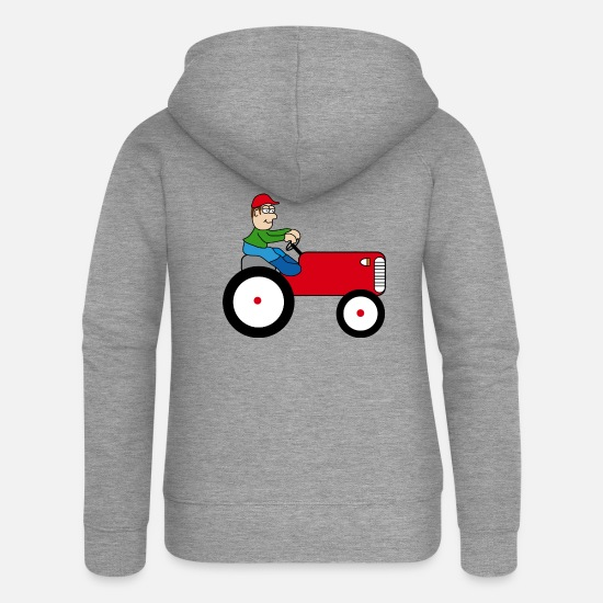 Gift Idea Hoodies & Sweatshirts - Tractor | Towing truck Trecker | Bulldog | farmer - Women's Premium Zip Hoodie heather grey