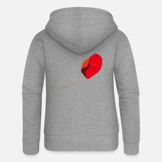 Amour Sweat-shirts - Broken heart - Veste à capuche premium Femme gris chiné
