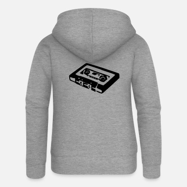Audio Audio Cassette - Women's Premium Hooded Jacket