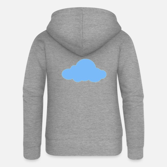 Rain Hoodies & Sweatshirts - rainbow sun clouds weather rainbow sun cloud11 - Women's Premium Zip Hoodie heather grey