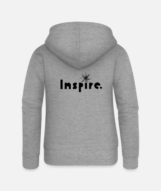 Inspiration Hoodies & Sweatshirts - Inspire - Women's Premium Zip Hoodie heather grey