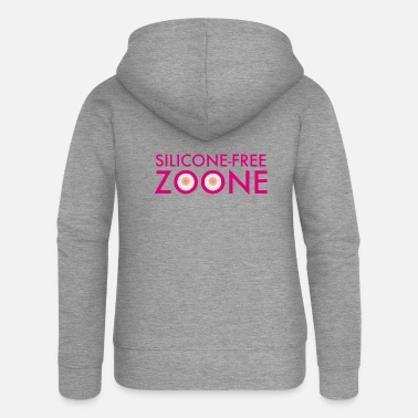 Silicone Silicone-Free Zoone No silicone Breasts | operating room - Women's Premium Zip Hoodie