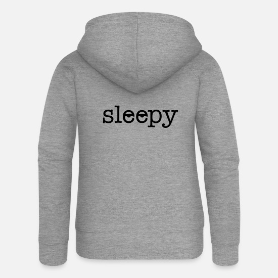 Bed Hoodies & Sweatshirts - tired - Women's Premium Zip Hoodie heather grey