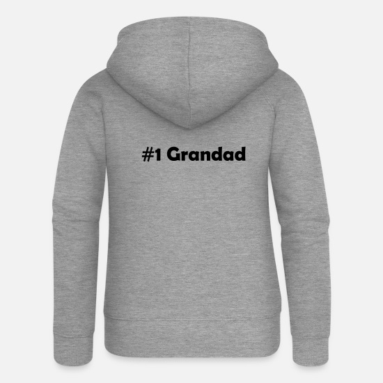 Grandad Hoodies & Sweatshirts - #1 grandad - Women's Premium Zip Hoodie heather grey