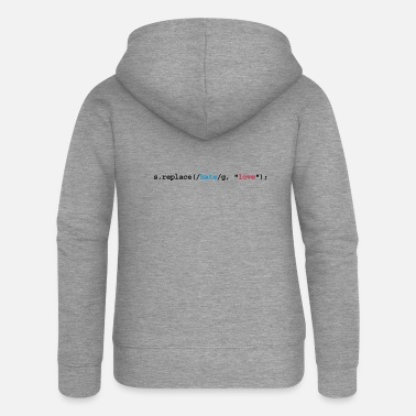 Internet replace hate with love - Women's Premium Zip Hoodie