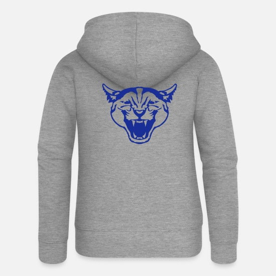 Wild Hoodies & Sweatshirts - wild animal panther 1106 - Women's Premium Zip Hoodie heather grey