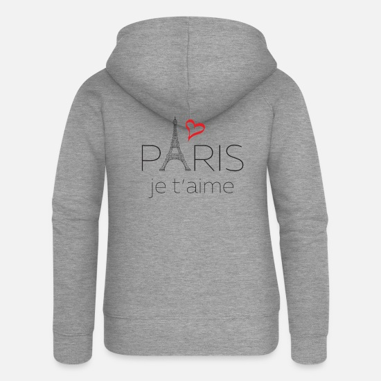 Tower Hoodies & Sweatshirts - Paris Je T'aime - Women's Premium Zip Hoodie heather grey