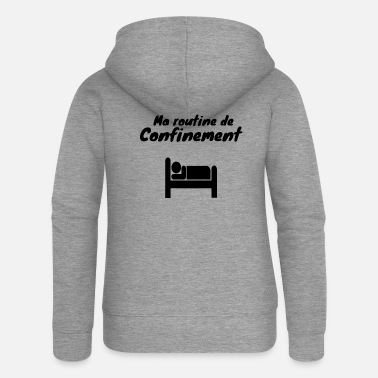 Coronavirus Containment sleep humor - Women's Premium Zip Hoodie