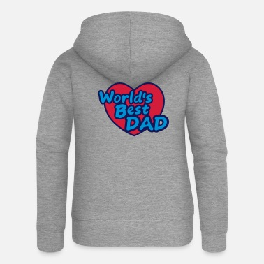 World Worlds Best Dad - Women's Premium Zip Hoodie