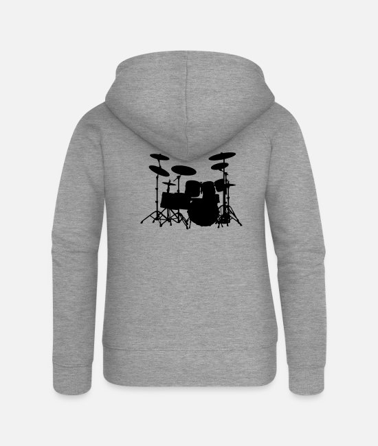 Pearl Hoodies & Sweatshirts - Drums - Women's Premium Zip Hoodie heather grey