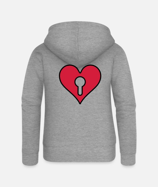 Virgin Hoodies & Sweatshirts - VIRGIN - Women's Premium Zip Hoodie heather grey