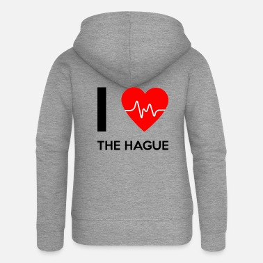 I Love I Love The Hague - I Love La Haye - Veste à capuche premium Femme