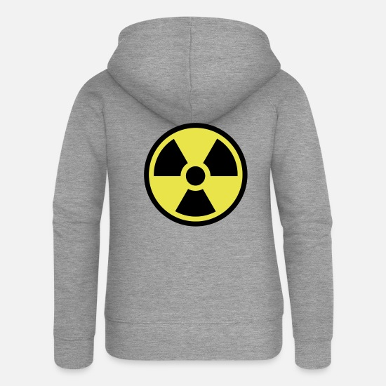 Radioactive Hoodies & Sweatshirts - Radioactive - Women's Premium Zip Hoodie heather grey
