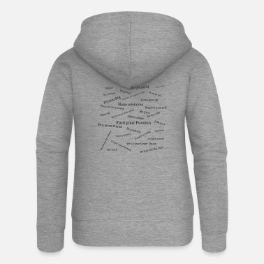 Lessons Wisdom / Lessons for a full life - Women's Premium Zip Hoodie