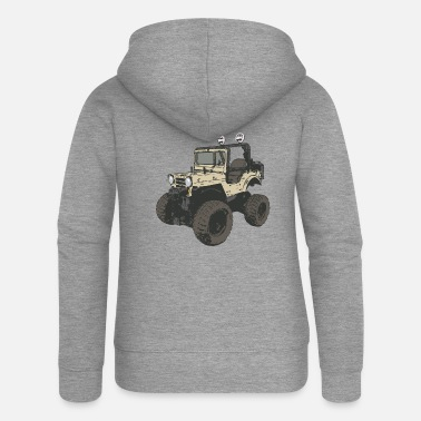 Four-wheel four-wheel - Women's Premium Zip Hoodie