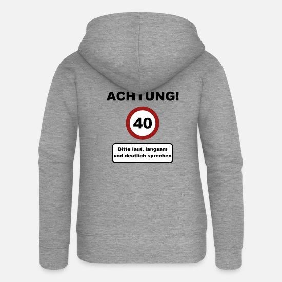 Achtung 40 40 Geburtstag Geschenk Frauen Premium