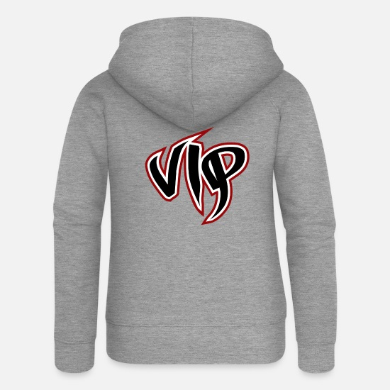 Graffiti Hoodies & Sweatshirts - Vip eu - Women's Premium Zip Hoodie heather grey