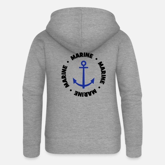 Travel Hoodies & Sweatshirts - Navy - Women's Premium Zip Hoodie heather grey